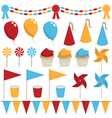 party decorations vector image vector image