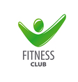 abstract green logo for fitness center vector image