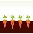Cute beautiful cartoon Carrot characters in row vector image