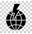 global shock icon vector image