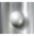 metal ball vector image