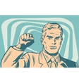 Politician protest solidarity gesture up fist vector image