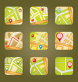 City map with GPS icons vector image vector image