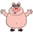 Pig cartoon vector image
