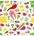 healthy food seamless pattern vector image