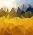 yellow orange polygon triangular pattern vector image vector image