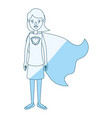 blue silhouette shading cartoon full body super vector image