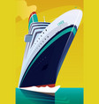 cruise liner cuts through the waves vector image