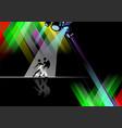 eps 10 dance pole on black background vector image