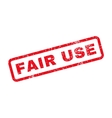 Fair Use Text Rubber Stamp vector image