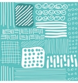 Seamless pattern with hand drawn lines dots and vector image