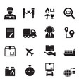 shipping logistics icons set vector image