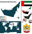 United Arab Emirates map world vector image