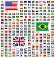 219 flags vector image