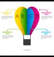 creative hot air balloon info-graphics design vect vector image