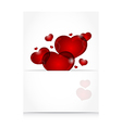 romantic letter with cute hearts - vector image vector image
