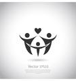 Happy family icon logo vector image