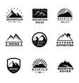Mountains logo badges and emblems set vector image