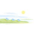 Solar Panels Landscape vector image