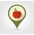 Apple flat pin map icon Fruit vector image