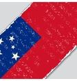 Samoan grunge flag vector image