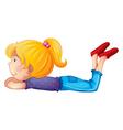 A little girl vector image