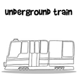 Underground train with hand draw vector image
