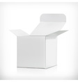 White carton box vector image vector image