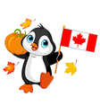 Canadian Thanksgiving Day Penguin vector image vector image