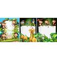 Banner design with wild animals vector image