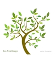 Stylized tree with branches and leaves eco vector image