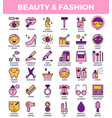 beauty and fashion icons vector image