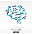 Brain concept for business vector image