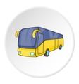 Bus icon isometric style vector image