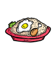 fried rice vector image