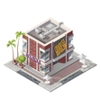 isometric butique building vector image
