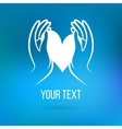 Logo with hands and heart vector image