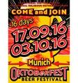 Oktoberfest beer festival celebration pop art vector image