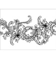 Ornamental border frame Baroque pattern seamless vector image