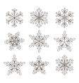 Snowflakes set Background for winter vector image