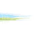Wind Generator Landscape vector image