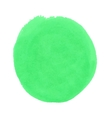 round green stain smear watercolor paint vector image