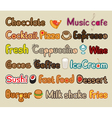 food and beverages vector image