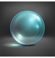 Transparent glass sphere isolated on checkered vector image vector image