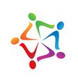 Teamwork swoosh logo vector image vector image