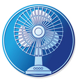 table fan button vector image