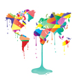 painted world vector image
