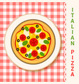 margherita pizza vector image vector image