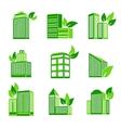 Building eco icon vector image vector image