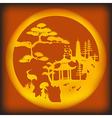 Asian landscape vector image